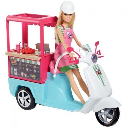 Mobilny bufecik Barbie skuter FHR08