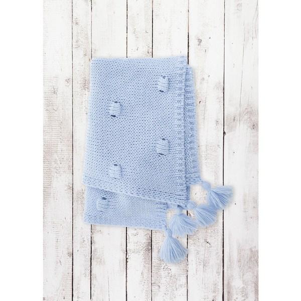 Kocyk 3d Bąbelki Belisima Akryl + bawełna  sweterek 70x100