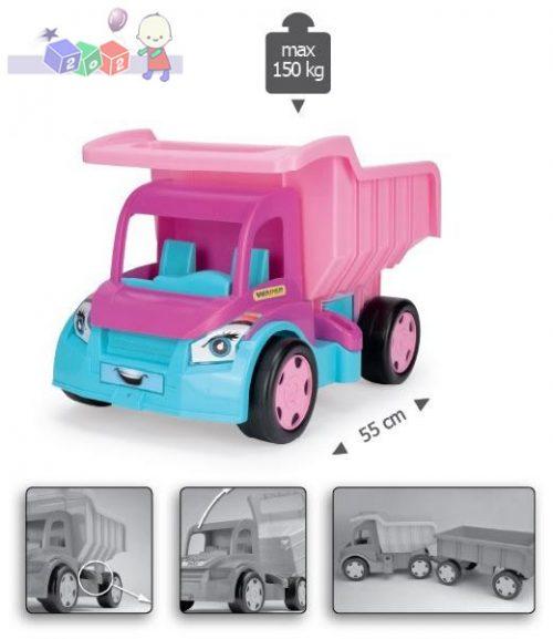 Gigant Truck Wywrotka 55 cm dla dziewczynek Wader 65006