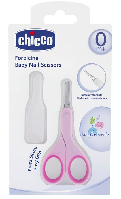 Różowe nożyczki dla niemowląt do paznokci Chicco