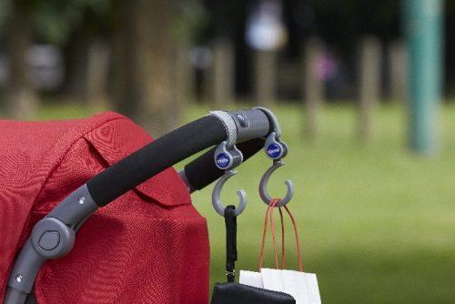 Chicco uniwersalne uchwyty do wózka do poowieszenia torby na rączce wózka