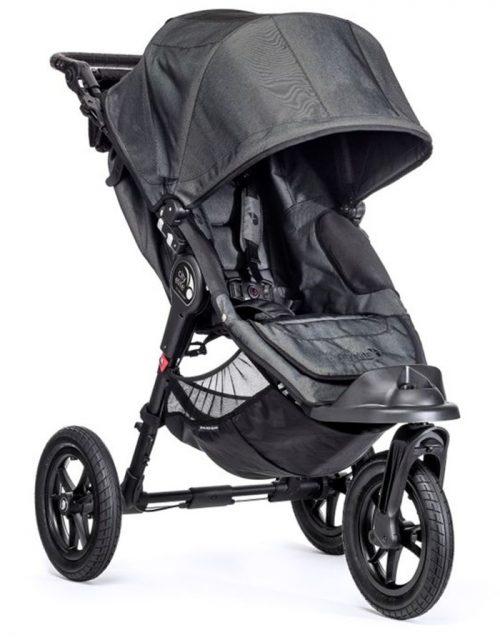 Wózki spacerowe City Elite firmy Baby Jogger - spacerówka 3 kołowa + pałąk i folia przeciwdeszczowa