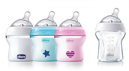 Chicco butelka plastikowa naturalfeeling 150 ml smoczek silikonowy, przepływ wolny 0+ biała