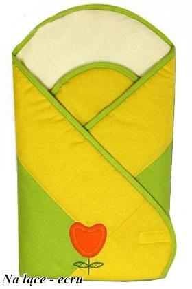 Usztywniany rożek dla niemowląt - becik firmy Baby Zone Na łące Ecru