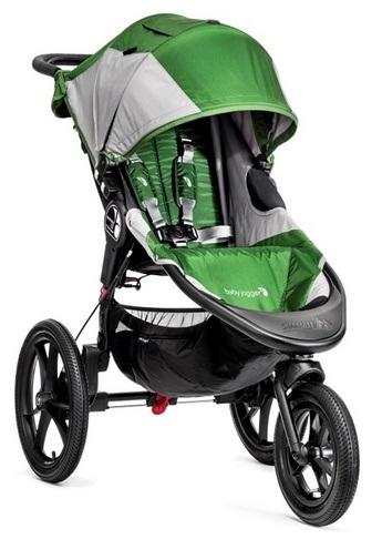 Terenowy 3-kołowy wózek spacerowy Summit X3 Baby Jogger - hamulec ręczny, duże koła_Green Gray