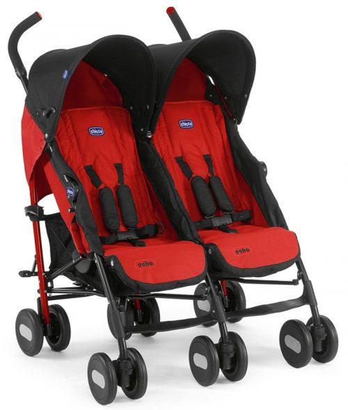 Bliźniaczy wózek spacerowy Chicco Echo Twin_Garnet