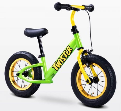 Metalowy rowerek biegowy dla dzieci od 3-6 roku życia Twister, Toyz Green