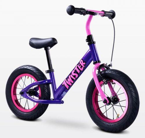 Metalowy rowerek biegowy dla dzieci od 3-6 roku życia Twister, Toyz Purple