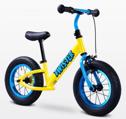 Metalowy rowerek biegowy dla dzieci od 3-6 roku życia Twister, Toyz Yellow