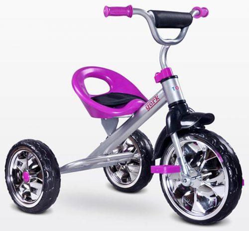Trójkołowy rowerek na pedały York, Toyz by Caretero Purple