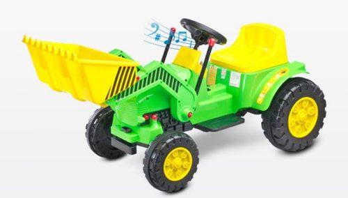 Traktor na akumulator Bulldozer Toyz - pojazd na pilota dla dzieci od 3 roku życia Green