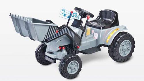 Traktor na akumulator Bulldozer Toyz - pojazd na pilota dla dzieci od 3 roku życia Grey