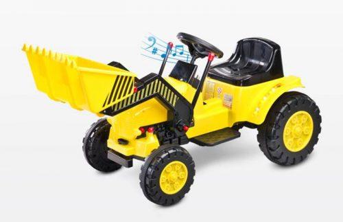 Traktor na akumulator Bulldozer Toyz - pojazd na pilota dla dzieci od 3 roku życia Yellow