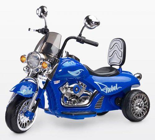 Motocykl Rebel na akumulator dla dziecka + pilot dla rodzica, Toyz Blue