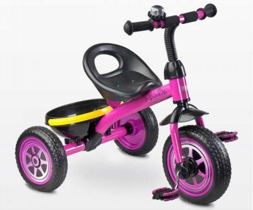 Rowerek trójkołowy Charlie lekki z koszykiem, Toyz Purple