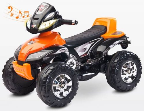 Pojazd na akumulator Quad Cuarto od 3 lat, Toyz Orange