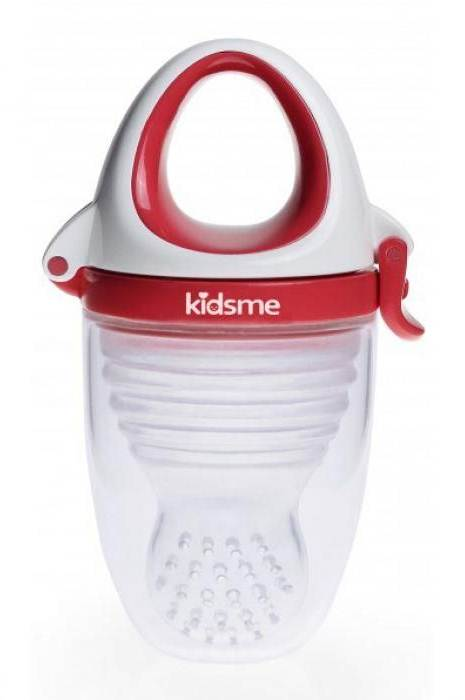 KidsMe Gryzak do Podawania Pokarmu Plus Czerwony