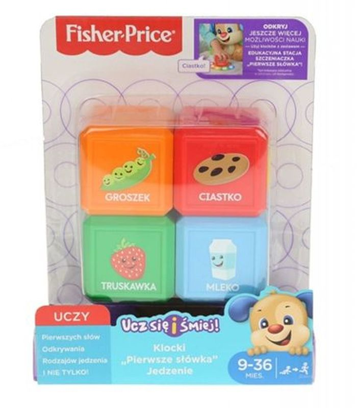 Fisher price zestaw 4 klocki pierwsze słówka  FJG26 FJP29