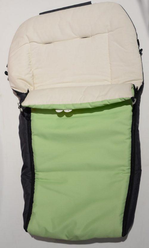 Śpiworek polarowy i bawełnainy  90x40 cm Zielony
