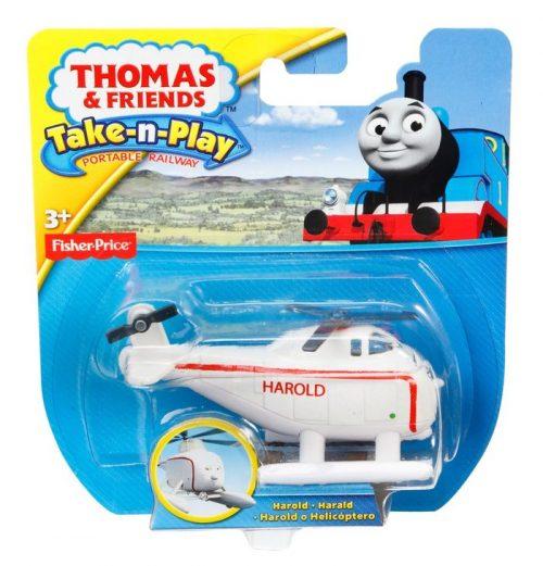 Małe pojazdy Fisher Price z bajki Tomek i przyjaciele Harold