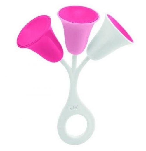 Grzechotka dla dziecka Tulipan różowy Chicco