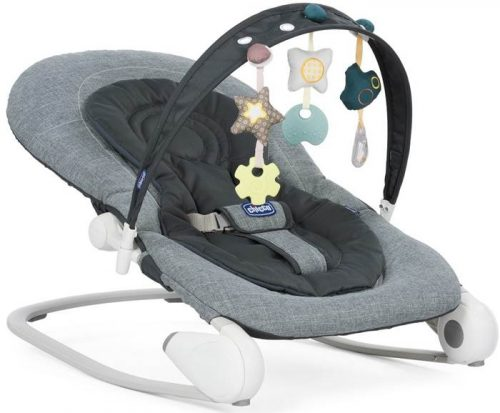 Leżaczek do niemowląt i dzieci od 0- 18 kg Chicco Hoopla New_Dark Grey