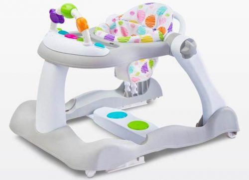 Chodzik dla dziecka Bounce z pałąkiem do zabawy, Toyz Grey