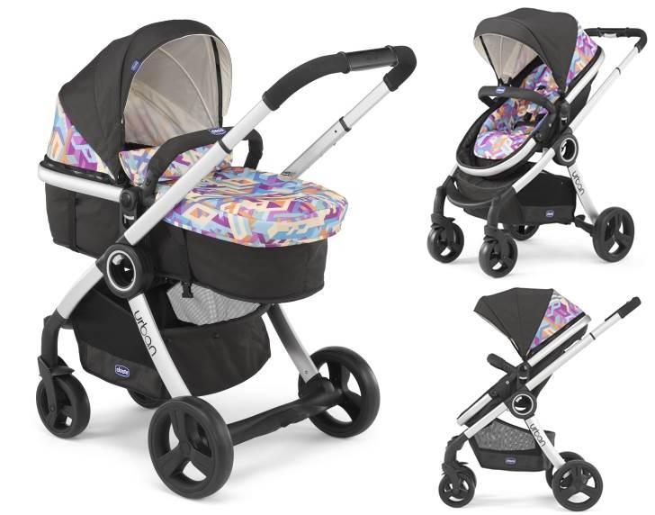 Głęboko spacerowy wózek dziecięcy 2 w 1 Chicco Urban Plus bez zestawu Color Pack - srebrna rama