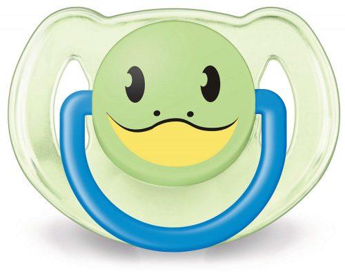 Ortodontyczny smoczek uspokajający z silikonu Animals Avent 6-18m Boy