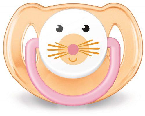 Ortodontyczny smoczek uspokajający z silikonu Animals Avent 6-18m Girl