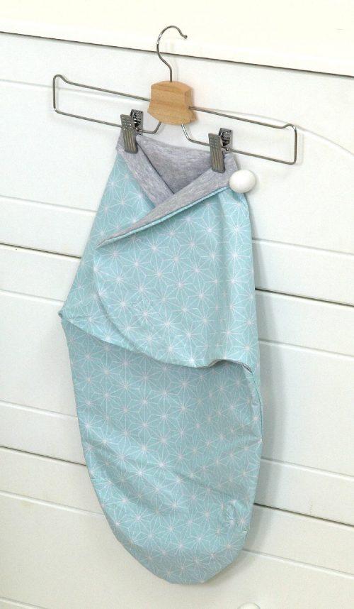 Otulacz dla niemowląt rozeta turkus Skybunny Amy 60x34