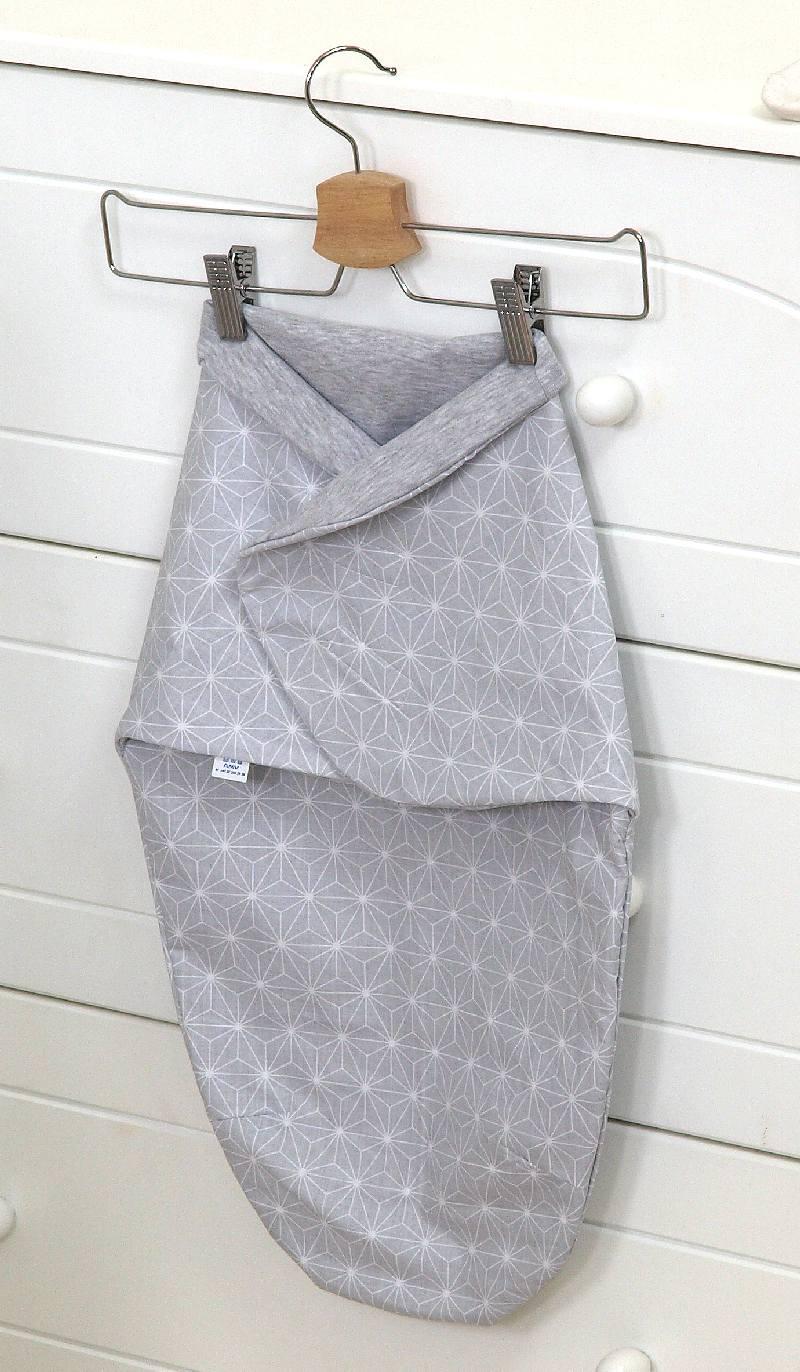 Otulacz dla niemowląt 60x34 bawełna Skybunny rozeta szara