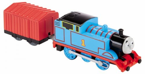 Fisher Price Thomas lokomotywki podstawowe z wagonikiem  z napędem na baterie Thomas