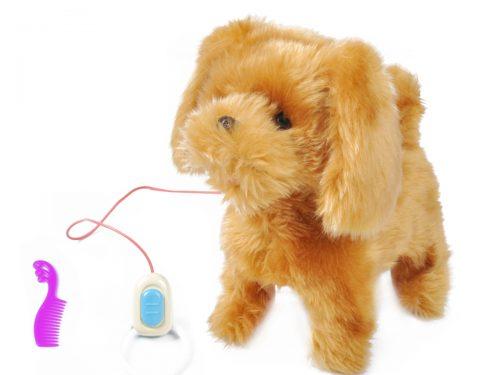 Zabawka interaktywny piesek na smyczy. Szczeka, chodzi, macha ogonem