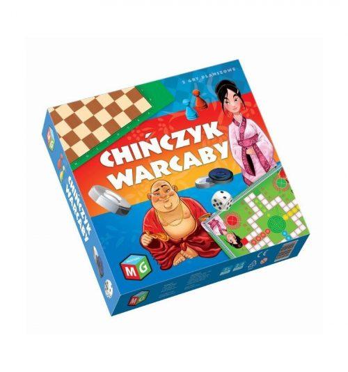 Zestaw 2 gier planszowych chińczyk i warcaby