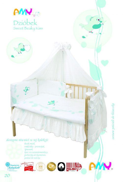 Moskitiera do łóżeczka baldachim biały dziubek