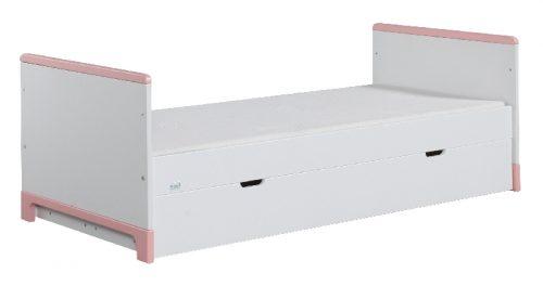 Tapczanik młodzieżowy 160x70 Mini Pinio Biały różowy