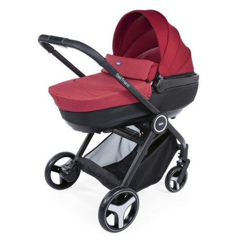 Wózek głęboko spacerowy 3w1 TRIO BEST FRIEND COMFORT marki CHICCO kolor Red