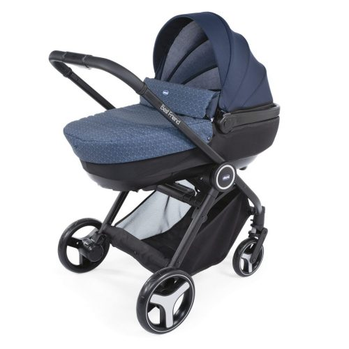 Wózek głęboko spacerowy 3w1 TRIO BEST FRIEND COMFORT marki CHICCO kolor Oxford