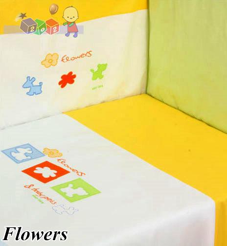 Dwuelementowa pościel135x100 dla dzieci i niemowląt haft Duet Baby Flowers