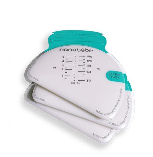 Torebki do przechowywania mleka matki pokarmu - 25 szt. + organizer