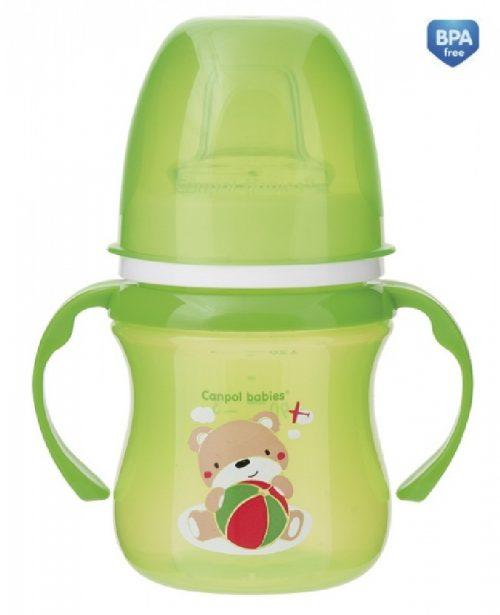 Kubek treningowy do nauki picia Sweet Fun 120ml Canpol Babies zielony