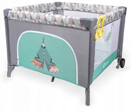 Kojec dla dziecka - łóżeczko turystyczne StellaTurquoise Scandi  Lionelo