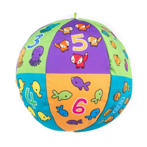 Pluszowa piłka edukacyjna dla niemowląt Balibazoo 80202