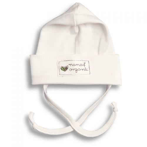 Nanaf organic czapka zwijana klacyczna 74 Naturalny