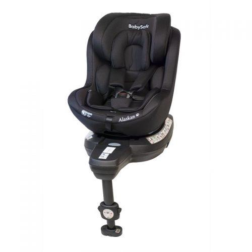 Fotelik samochodowy 0-18 kg i-Size Alaskan BabySafe Czarny