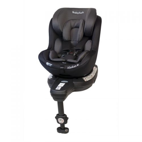 Fotelik samochodowy 0-18 kg i-Size Alaskan BabySafe Szaro Czarny