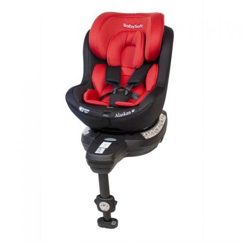 Fotelik samochodowy 0-18 kg i-Size Alaskan BabySafe Czerwony