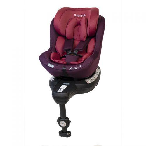 Fotelik samochodowy 0-18 kg i-Size Alaskan BabySafe Różowy