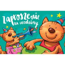 Zaproszenie na urodziny kot muzykant